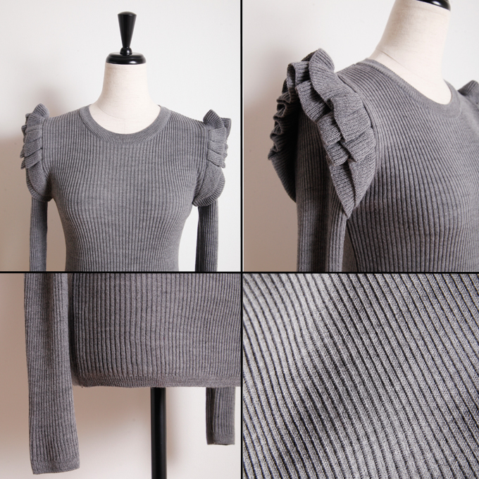 【Tiered shoulder knit】ティアードショルダーニットソー11-111776
