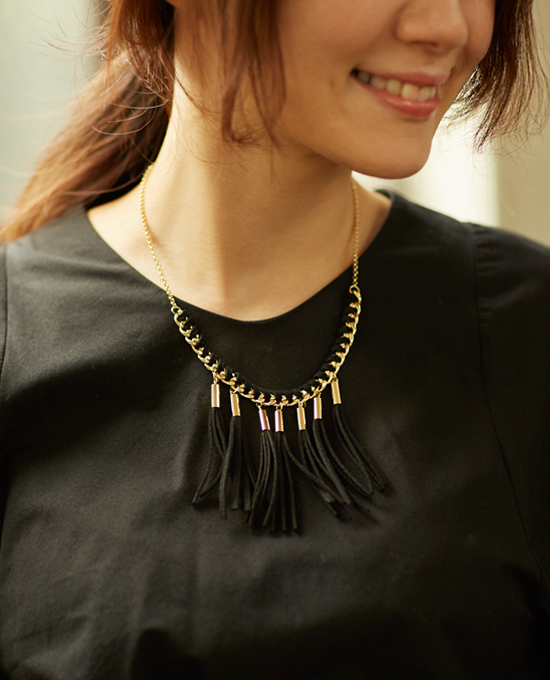 【Tassel necklace】タッセルネックレス11-110311/グッズ